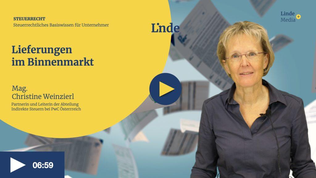 VIDEO: Lieferungen im Binnenmarkt – Christine Weinzierl