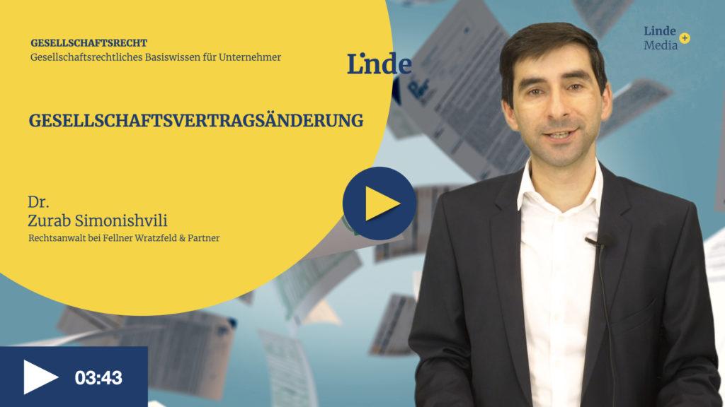 VIDEO: GESELLSCHAFTSVERTRAGSÄNDERUNG – Zurab Simonishvili