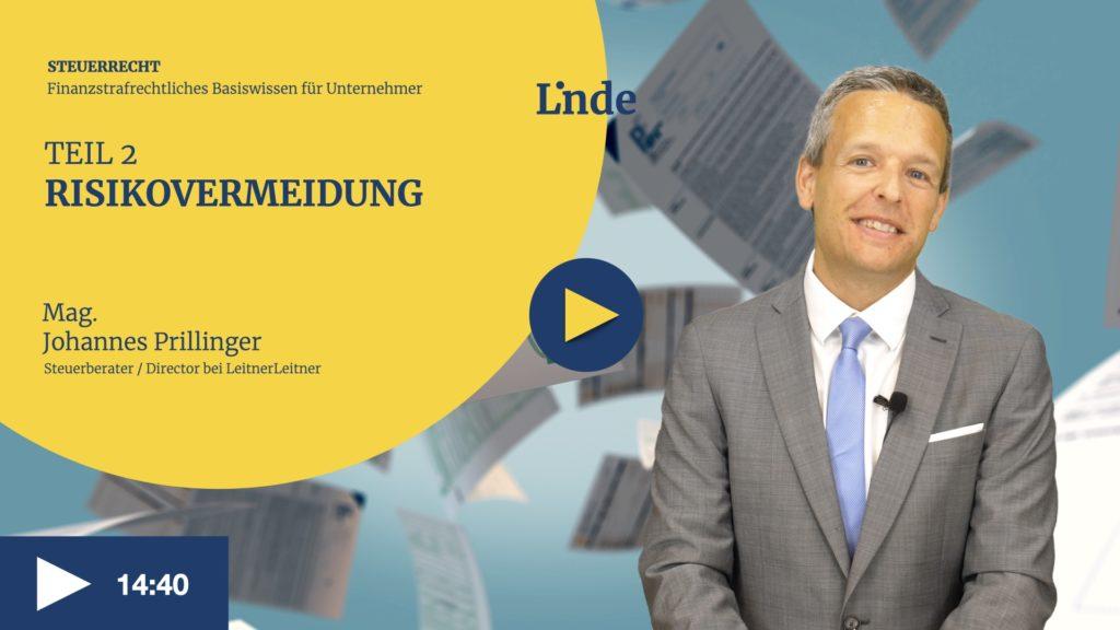 VIDEO: Risikovermeidung – Finanzstrafrechtliches Basiswissen für Unternehmer