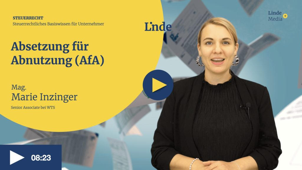 VIDEO: Absetzung für Abnutzung (AfA) – Marie Inzinger
