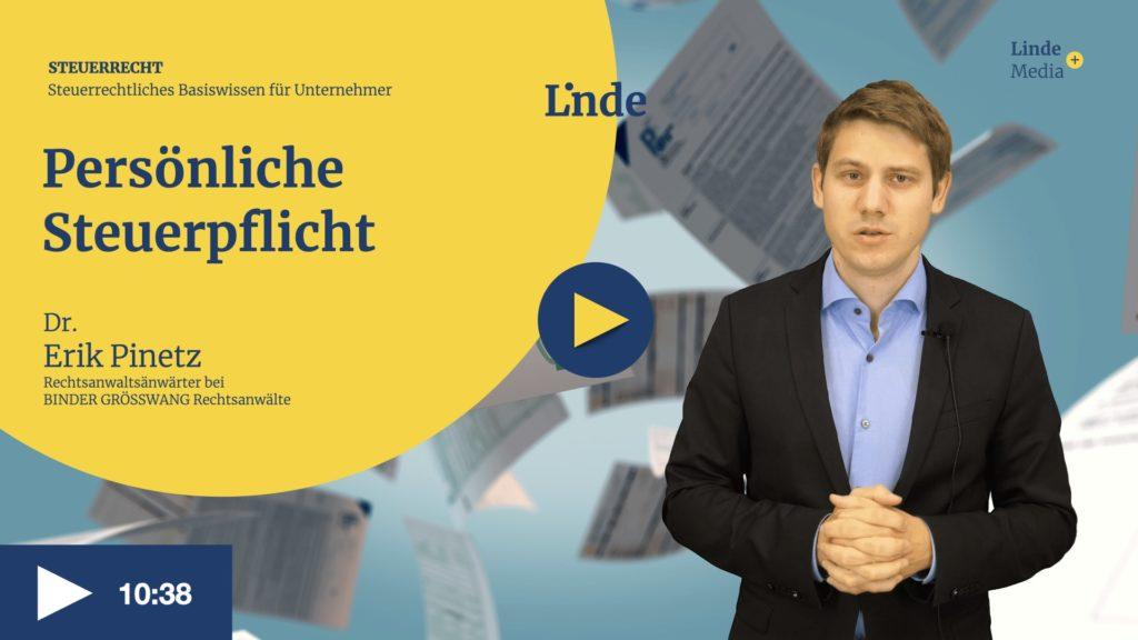 VIDEO: Persönliche Steuerpflicht