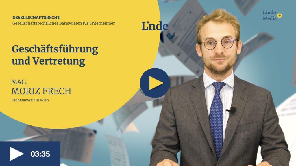 VIDEO: Geschäftsführung und Vertretung