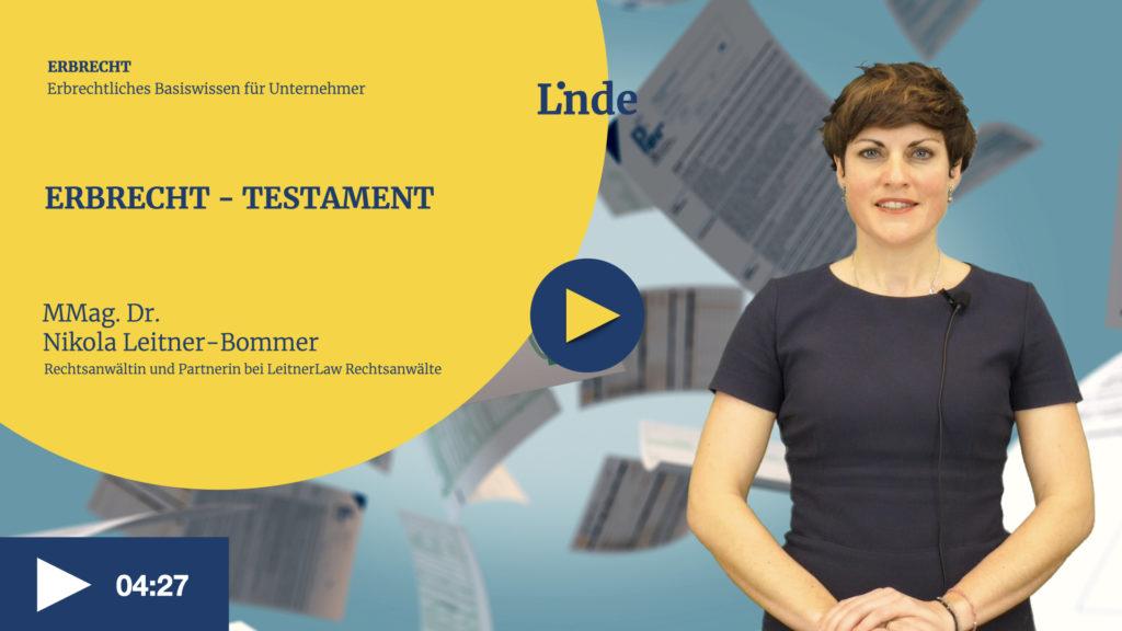 VIDEO: Erbrecht – Testament