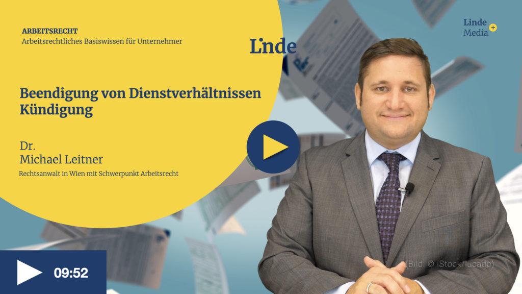 VIDEO: Beendigung von Dienstverhältnissen – Kündigung
