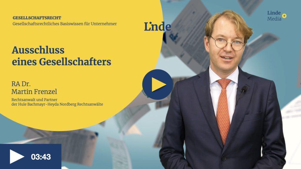 VIDEO: Ausschluss eines Gesellschafters – Martin Frenzel
