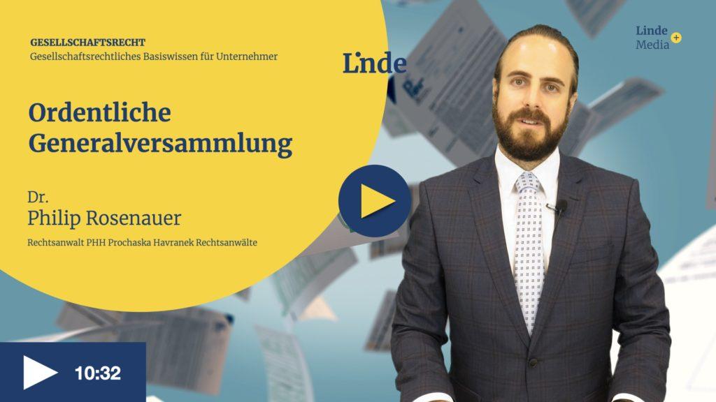 VIDEO: Ordentliche Generalversammlung – Philip Rosenauer