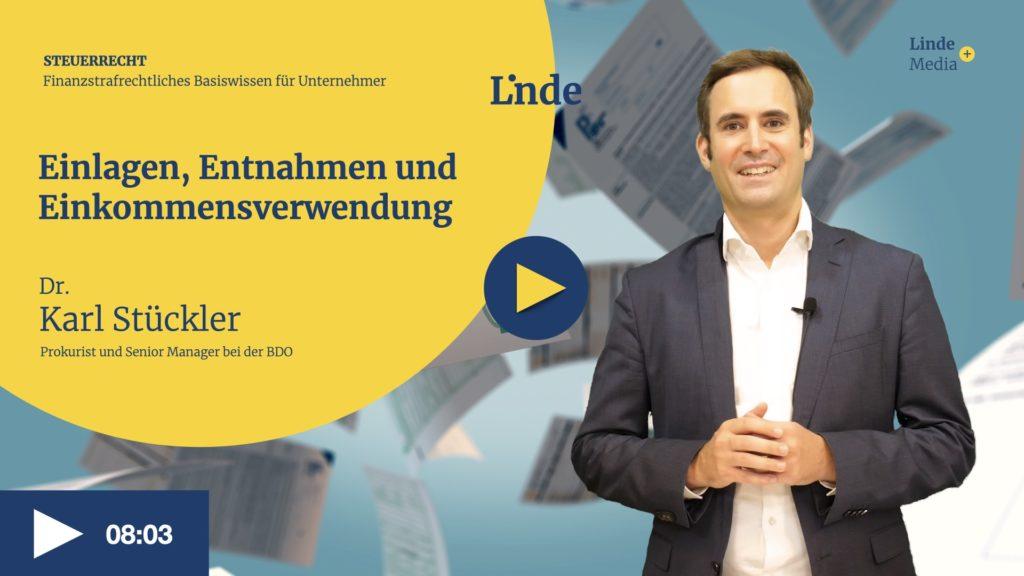 VIDEO: Einlagen, Entnahmen und Einkommensverwendung