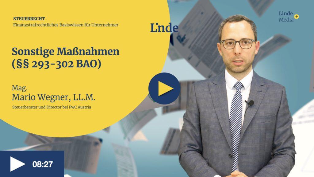 VIDEO: Sonstige Maßnahmen (§§ 293-302 BAO) – Mario Wegner
