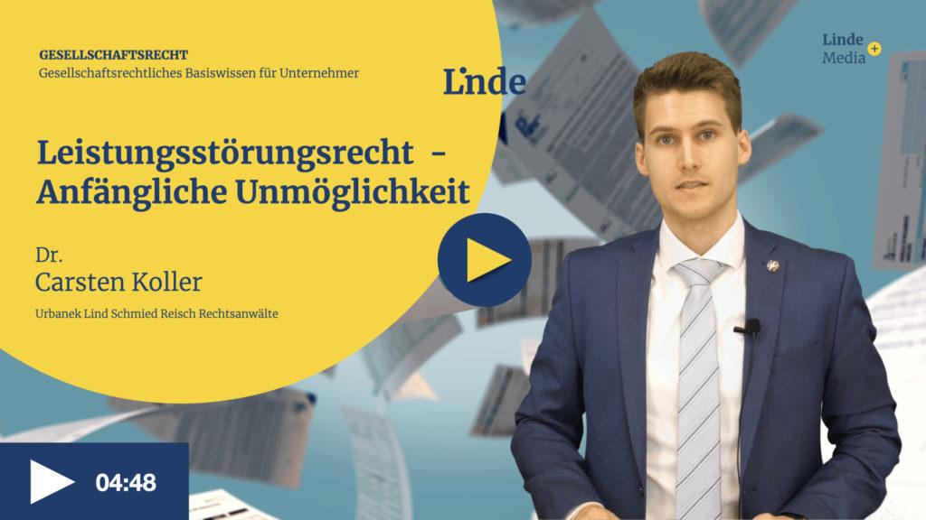 VIDEO: Leistungsstörungsrecht - Anfängliche Unmöglichkeit